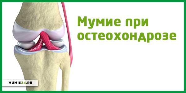 Мумие при остеохондрозе